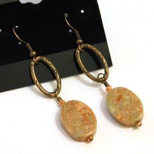 Unakite Gemstone Earrings